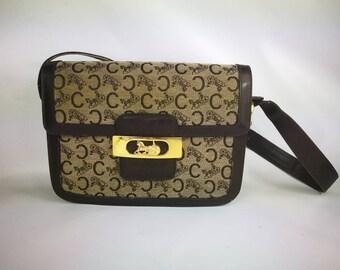 ecfd5cbc9f8f Celine Bag Vintage bag 1970s shoulder messenger leather monogram luxury bag  logo bag shoulder bag vintage 70s sac Celine vintage en cuir