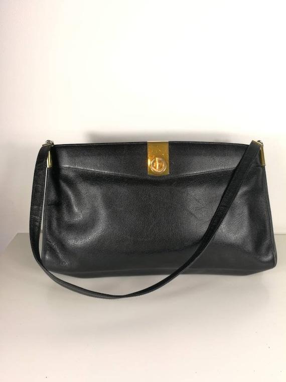 Christian Dior vintage bag black shoulder bag vint