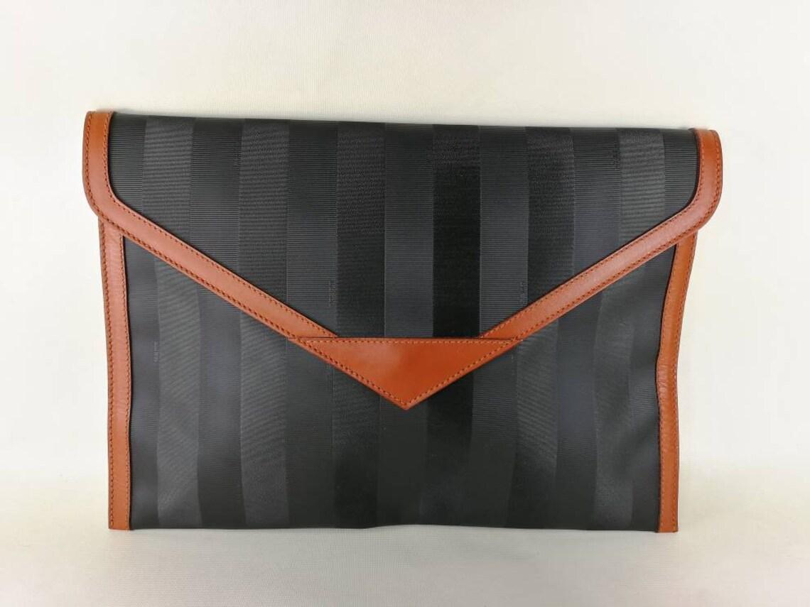 Fendi Vintage bag man bag woman bag handbag fendi Pequin Black   Etsy d0248e1e53d