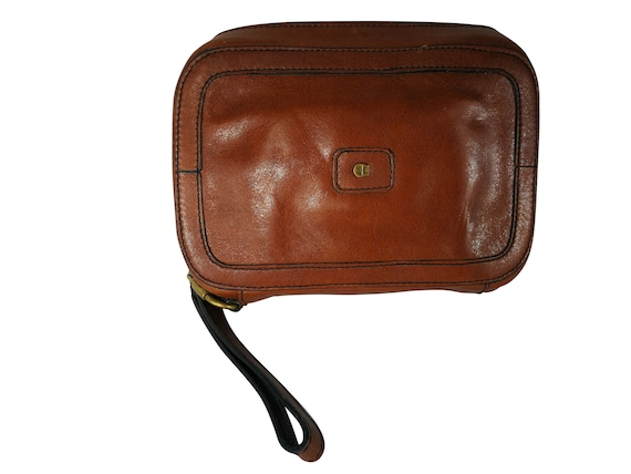 new products super cute best cheap Etienne Aigner vintage clutch man woman leather bag sac cuir shoulder bag  leather brown leather 16