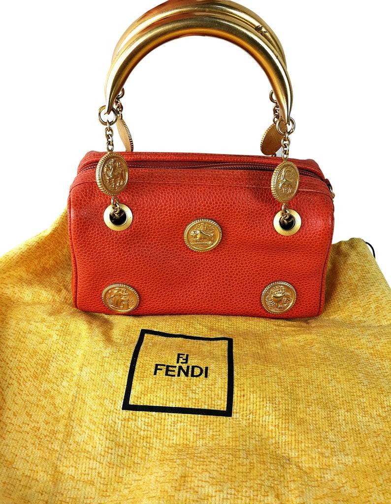 a6390b95e75a4 Fendi bag Fendi Vintage bag Karl Lagerfeld collection Zodiac