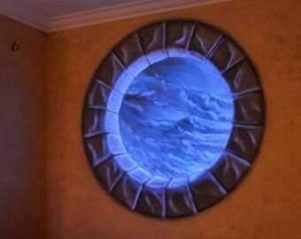 Dipinto oblò fluorescente - Painting Circular Fluorescent porthole