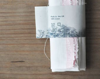 White Linen Tea Towel