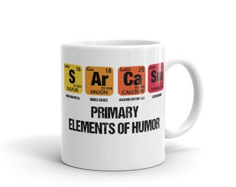 Periodic table mug etsy periodic table mug sarcasm elements of humor cup sarcasm periodic table coffee mug science teacher gifts periodic table of elements mug urtaz Choice Image