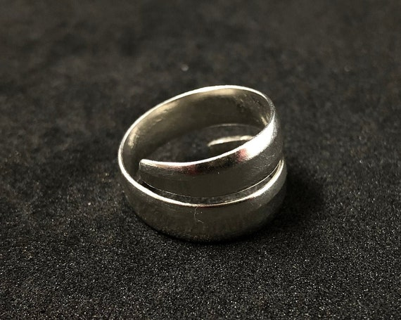 017 - Hand-crafted Sterling Eco Silver Ring 'Wrap' style. Made to any size upon order.  Personalizations welcome - please ask