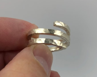 My 'Spring' ring - handcrafted from 1 piece of Eco Sterling Silver.