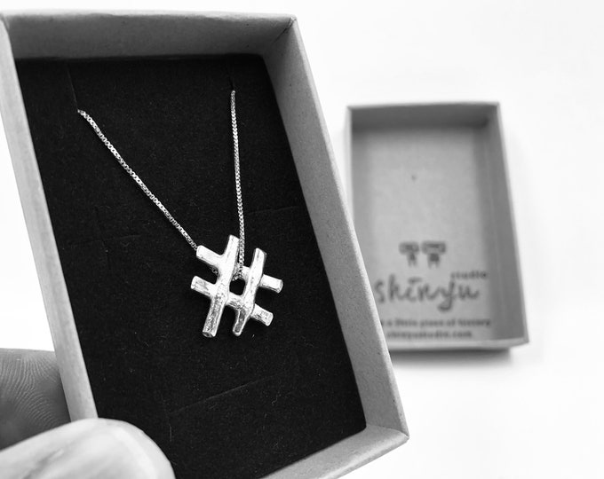 Hashtag Life - Commission in Eco Sterling silver. Let's work together and design your perfect present - just email: shinyustudio@gmail.com