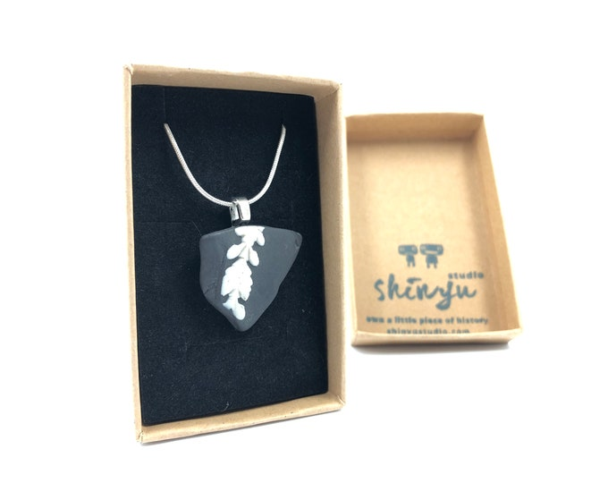Rare Black Wedgwood necklace. Each item is handmade from salvaged Original Wedgwood. Very Unique!