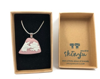 Recycled Pink Wedgwood necklace. Handmade from salvaged Original Wedgwood. The Ultimate gift helping to save our planet.
