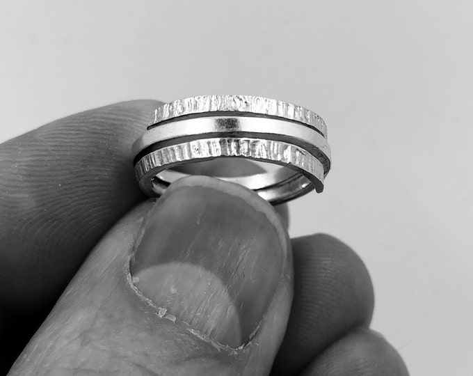 Hand-crafted Sterling Silver Textured Ring - 'Endless' collection. Made to any size upon order.  Personalizations welcome - please ask