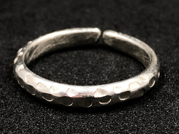 013 - Hand-crafted Sterling 'Eco' Silver Ring - 'Hole Punch' style. Made to any size upon order.  Personalizations welcome - please ask