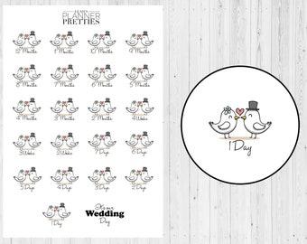 Wedding countdown// Wedding stickers// Countdown stickers// Wedding planning// Bride planner// Planner stickers// Planner addicts// Planner