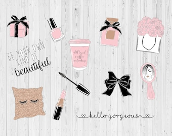 Planner girl// Gorgeous// Glam// Make-up// Diecuts// Planner decoration// TN// Travellers notebook decoration// Diecut set// Die cuts//