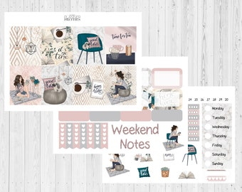 Home// Hygge// Relax// Chill// Cosy// Weekly// Weekly decoration// Planner spread// Weekly spread// Happy planner spread// Die Cuts// Vellum