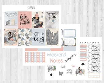 Winter vibes// Christmas// Winter// Cosy home// Spread// Weekly// ECLP// Happy planner// Planner spread// Planner stickers