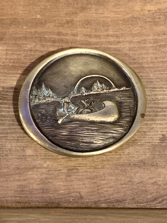 Vintage Canoe Belt Buckle