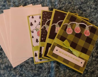 Christmas cards - set of 4 with envelopes