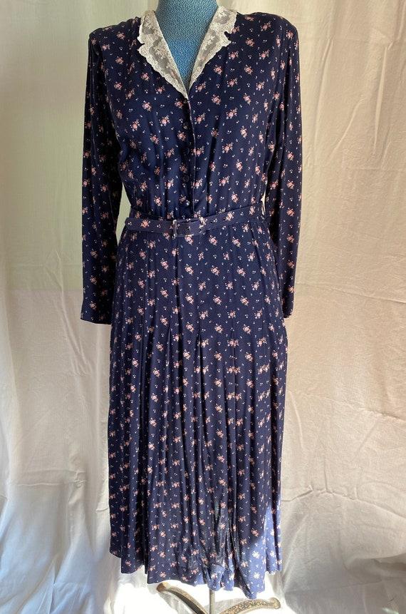 Laura Ashley Vintage Viscose calico dress