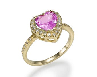 A gold ring, heart of Lagoon, diamond, sapphire, designer's jewelry, for women, a gift for her, white gold rings, gems&semi-precious stones,