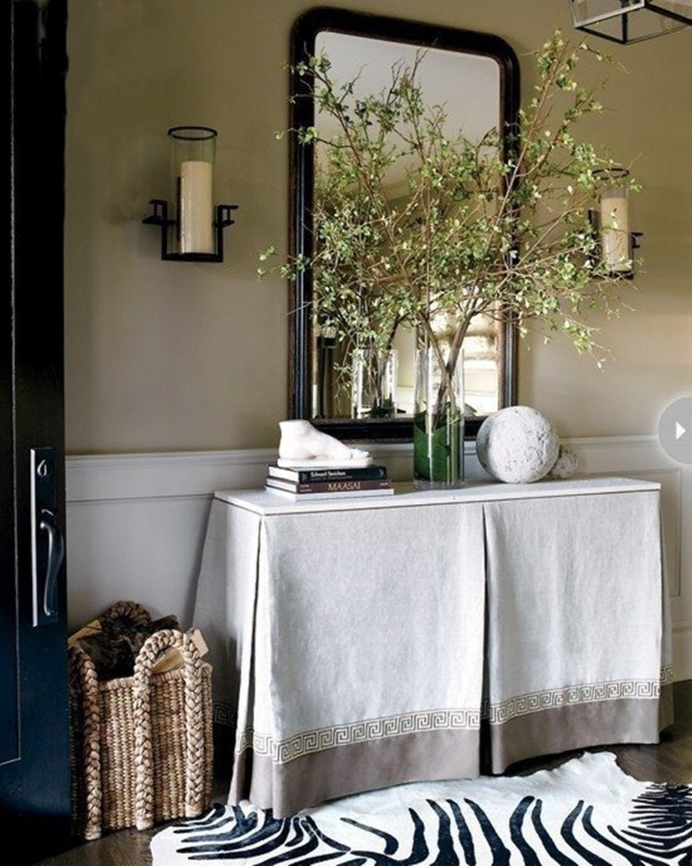 Custom flax linen table skirt and 25 Beautifully Handmade Decor Finds for Home to help you feather your nest and also inspire your interior design schemes.