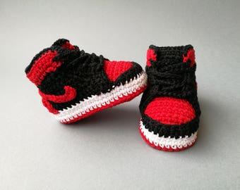 Baby crochet Nike Air Jordan style 214b5b426