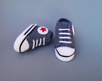 Crochet Converse Etsy