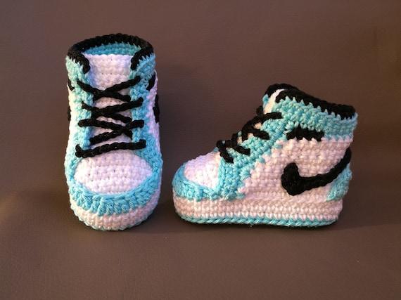 Crochet PATTERN Air Jordan, baby booties crochet pattern , nike, baby shoes, sneakers