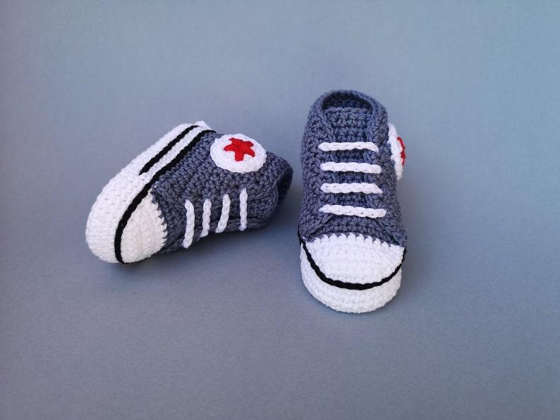 e84b07efd94e Crochet Converse baby shoes crochet booties baby sneakers