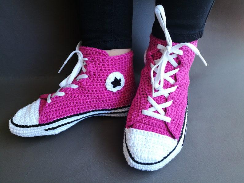 Crochet PATTERN Converse adult shoes women men sneakers US  4311c76762
