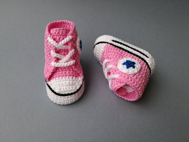 986dd4819f9b Baby crochet Converse style all star sneakers booties