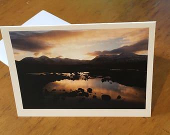 Scottish Sunset Photo Card - Blank Inside Christmas or Birthday Card - Photography