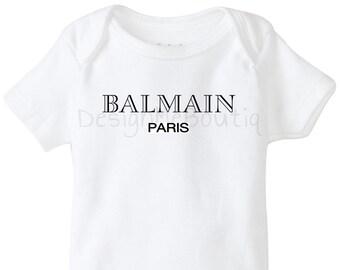 0ae249ce8 Balmain inspired Baby Onesie Onesies Gerber Baby Shower Gift Infant bodysuit  fashion vogue baby unisex boy girl designer GG hot new