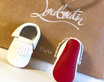 ac5f3321d05 Handmade Baby Red Bottom Shoes Moccasin Baby Louboutin inspired shoes for  babies toddlers baby moccasin fashion designer baby shoe boy girl