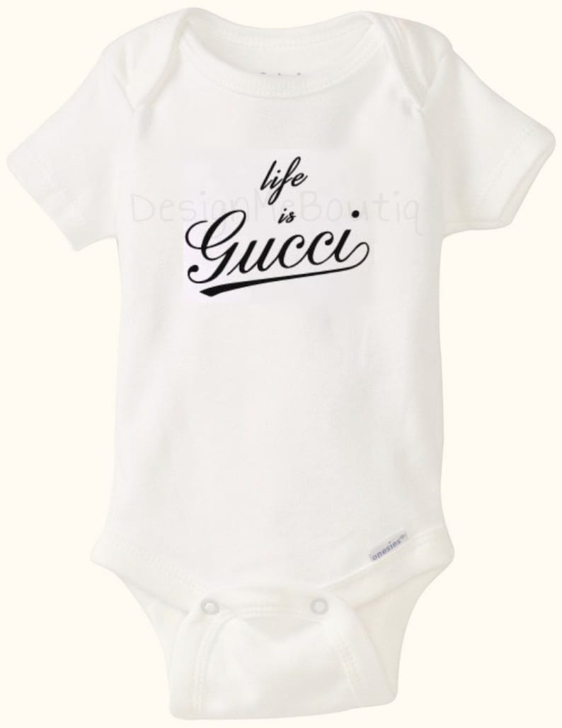 de3e816c8 Life is Gucci inspired Baby Onesie Onesies Gerber Baby Shower | Etsy
