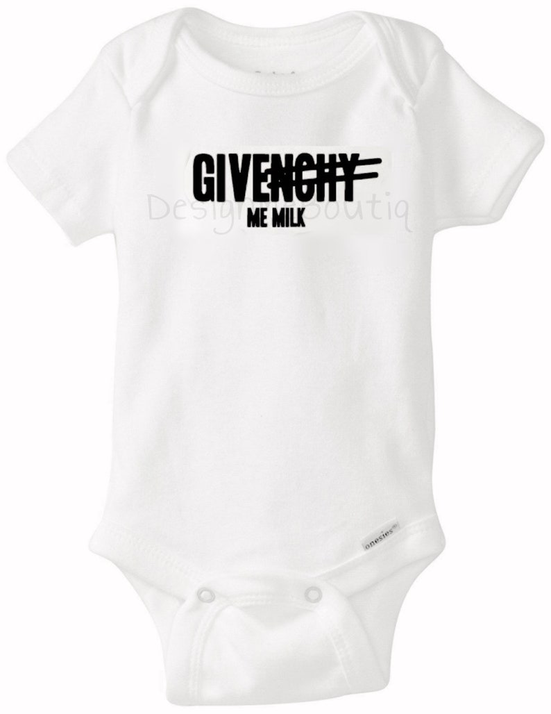 8819a01b5 Givenchy Me Milk Givenchy inspired Baby Onesie Onesies Gerber | Etsy