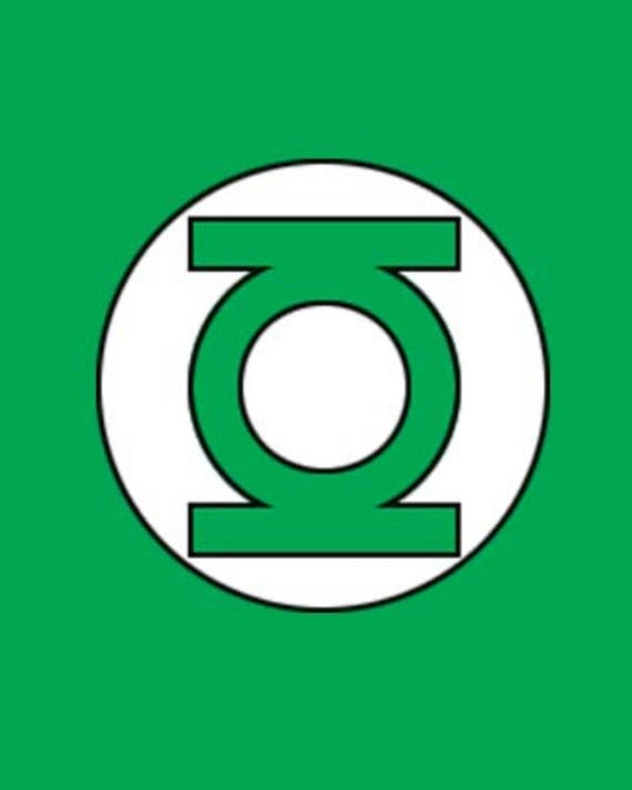 Green Lantern Symbol Digital Print