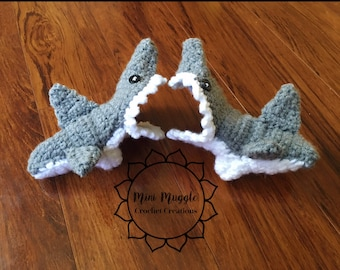Crochet Nonslip Shark Slippers / All Sizes