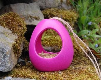 Hot Pink Ceramic Wild Bird Seed Feeder  - Gardening Gifts - Scottish Gifts - Birds - Apple - Balls - Scotland - Nature - Garden - Suet
