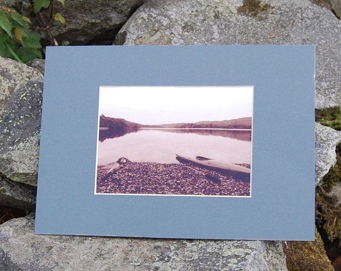 Kayak on the Lake, Coniston Water - Lake District Print, Cumbria, Wainwright,