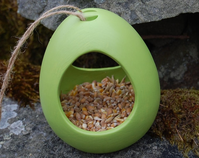 Bird Feeder Choose Your Own Colour Ceramic Bird Feeder - Gardening Gifts - Birds - Apple - Balls - Suet