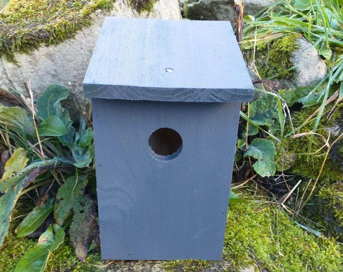 Dark Slate Grey Wooden Bird House Nest Box