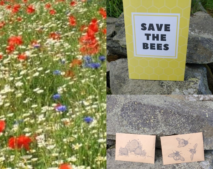 Wildflower Seeds Gift Card Wild Flowers Garden Bee Scented Meadow Flower Pack Mix Seed