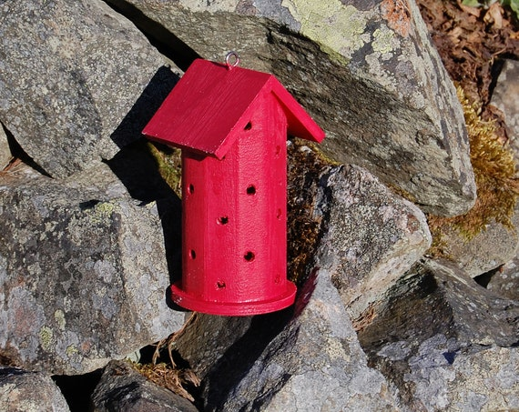 Red Wooden Ladybird House Hotel - Ladybug - Insect House - Bug Hotel - Bee House - Gardening Gifts - Scottish Gifts - Scotland