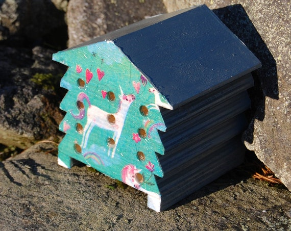 Unicorn - Wooden Bee Hive House - Insect House - Bug Hotel - Bee House - Gardening Gifts - Garden - Scottish Gifts