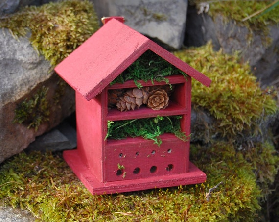 Berry  Wooden Insect House - Bug Hotel - -Beasts Vacation - Bee House - Gardening Gifts - Garden - Scottish Gifts - Scotland-