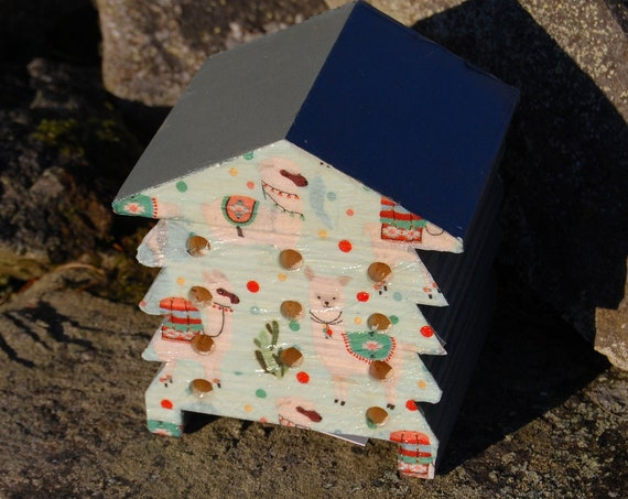 Llama Alpaca - Wooden Bee Hive House - Insect House - Bug Hotel - Bee House - Gardening Gifts - Garden - Scottish Gifts