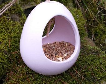 Pink Frosting Ceramic Wild Bird Seed Feeder  - Gardening Gifts - Scottish Gifts - Birds - Apple - Balls - Gardener - Nature - Garden