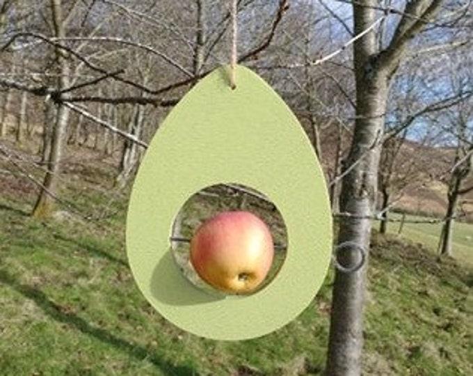 Choose Your Own Colours -  Avocado Egg Wooden Bird Feeder - Fruit, Apple, Fat Balls, Suet
