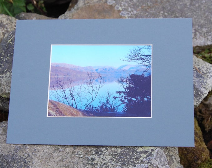 Coniston Water Reflections - Lake District Print, Cumbria, Wainwright,
