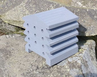 Bee House Grey Wooden Beehive Insect Bug Hotel Gardening Gifts - Save The Bees